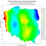 Ogólnopolski rozkład wartości stacji benzynowych