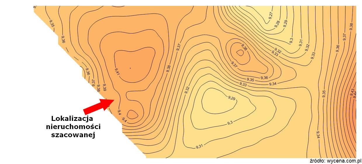 mapa cenności Warszawa LU w2