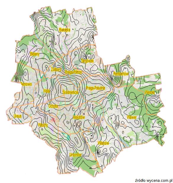 Mapa cenowa dla Warszawy - instrument przydatny przy wycenie nieruchomości