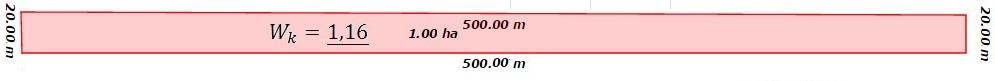 Współczynnik kształtu dla wydłużonego prostokąta - 1,16