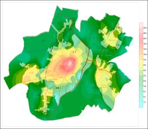 Racibórz mapa izarytmiczna 2