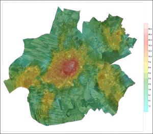 Racibórz mapa izarytmiczna orto