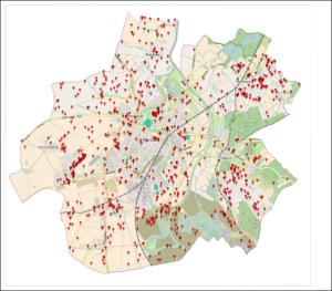 Racibórz - lokalizacja transakcji nieruchomościami gruntowymi